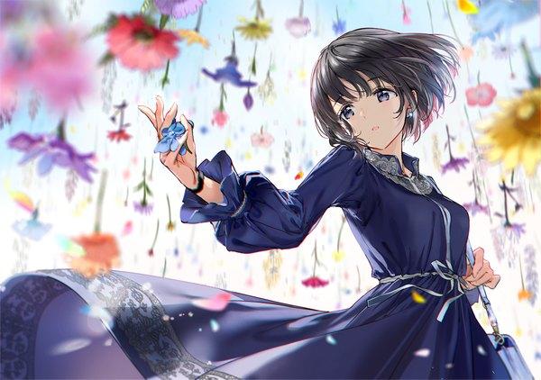 Anime picture original kr0npr1nz single blush short hair